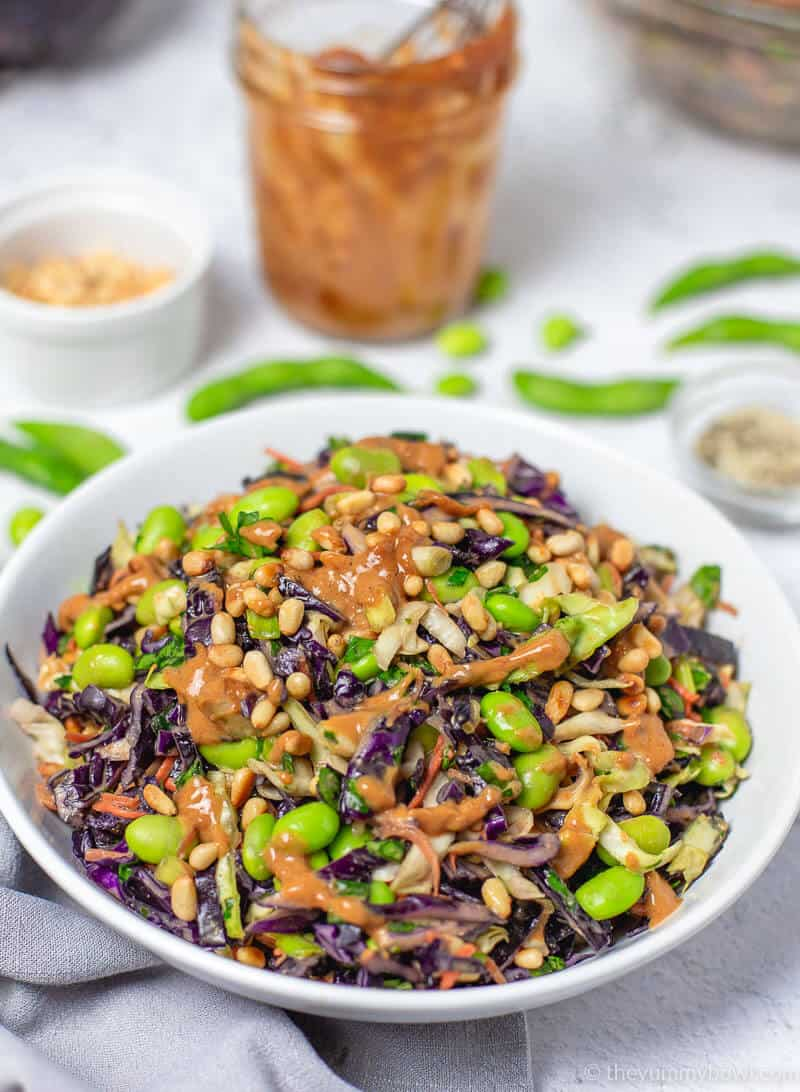 Asian Slaw With Tangy Peanut Dressing