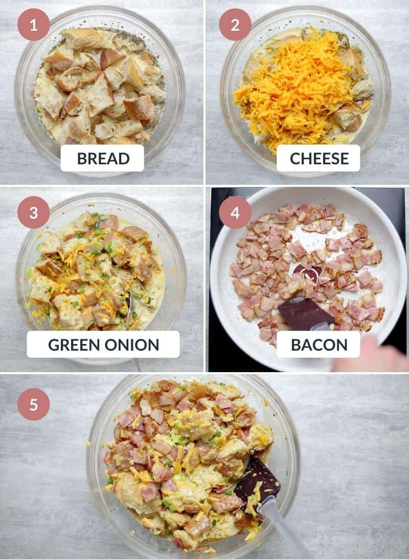 Bacon Egg and Cheese Strata