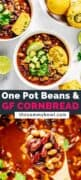 Beans and Cornbread Recipe pinterets cover image