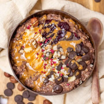 10 minute Chocolate porridge