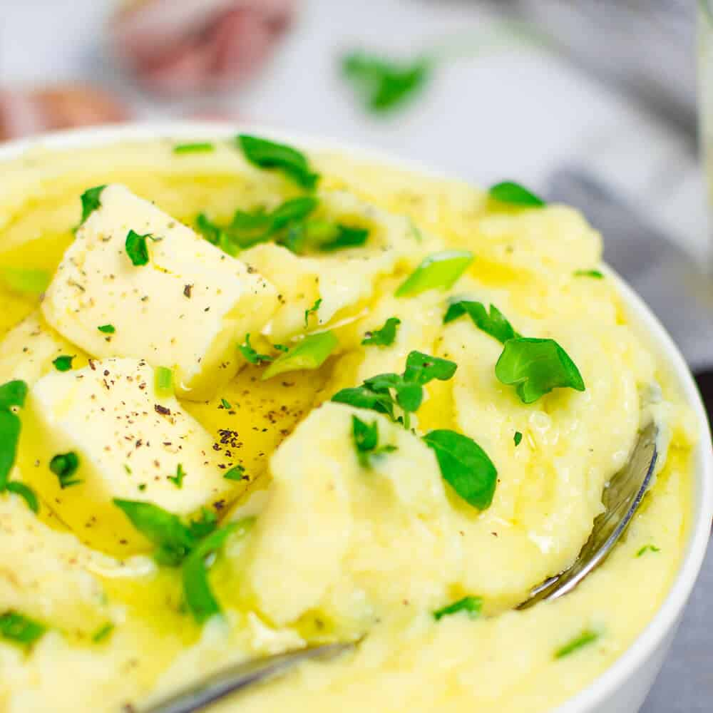 Mashed Potatoes With Cream Cheese And Garlic