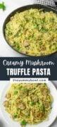 Creamy Mushroom Pasta with Truffle Oil