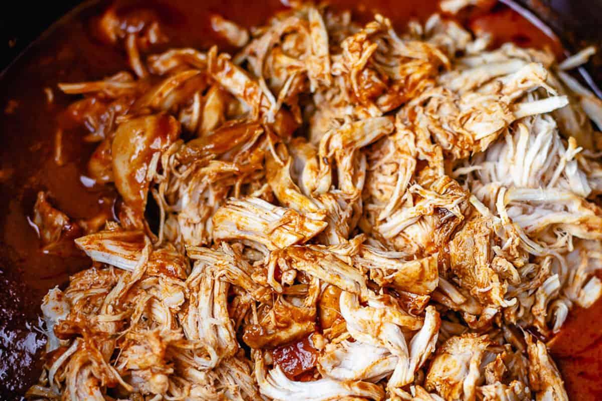 chicken enchilada in a crockpot