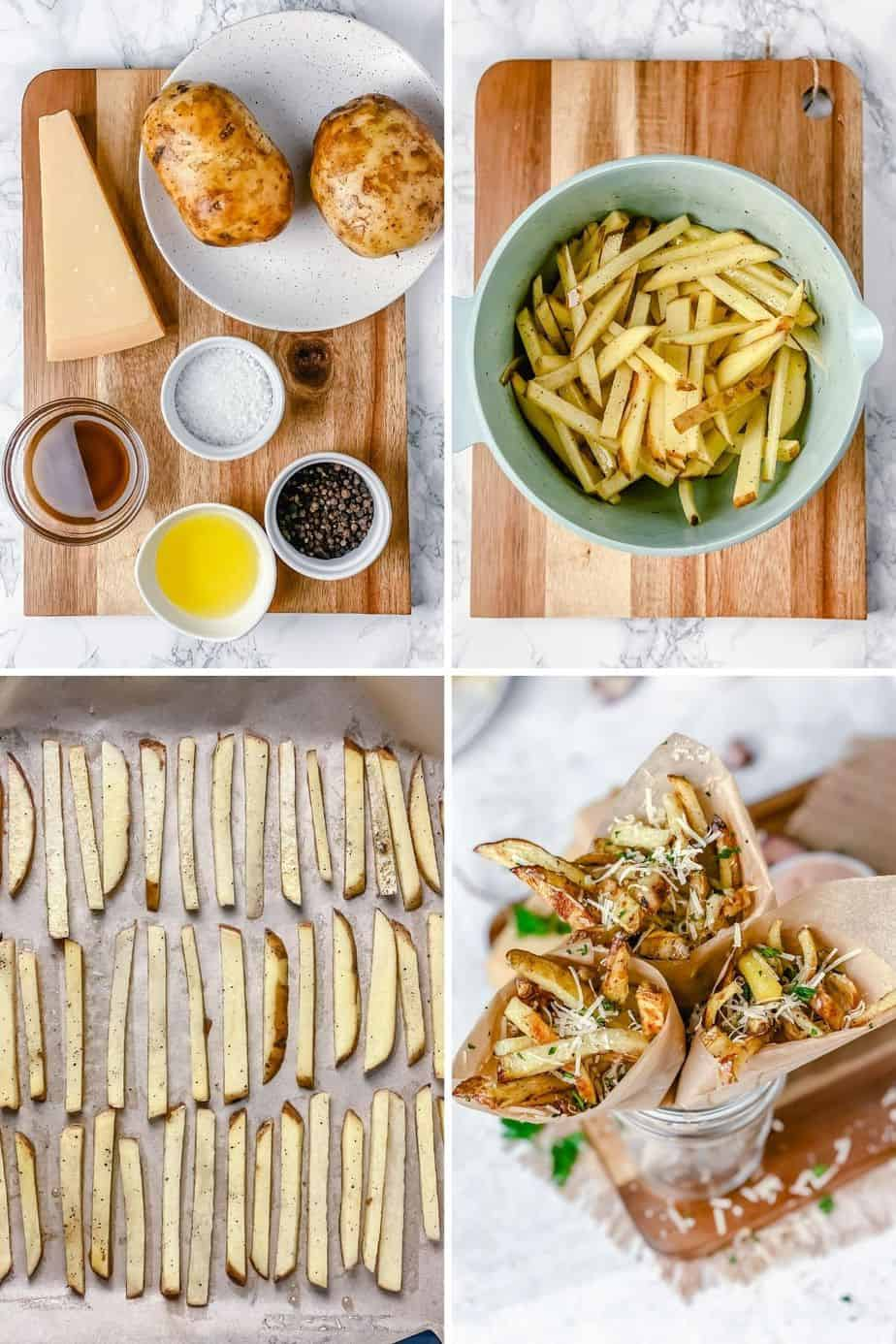 This recipe for Homemade Parmesan Truffle Fries is so good, no frying, easy and quick! Paired with delicious sweet paprika dipping sauce makes it a beautiful lazy evening dinner meal. The Yummy Bowl