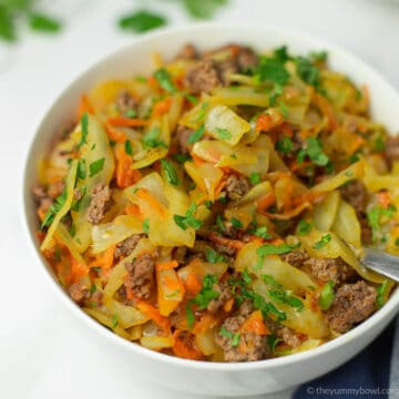 Ground Beef and Fried Cabbage