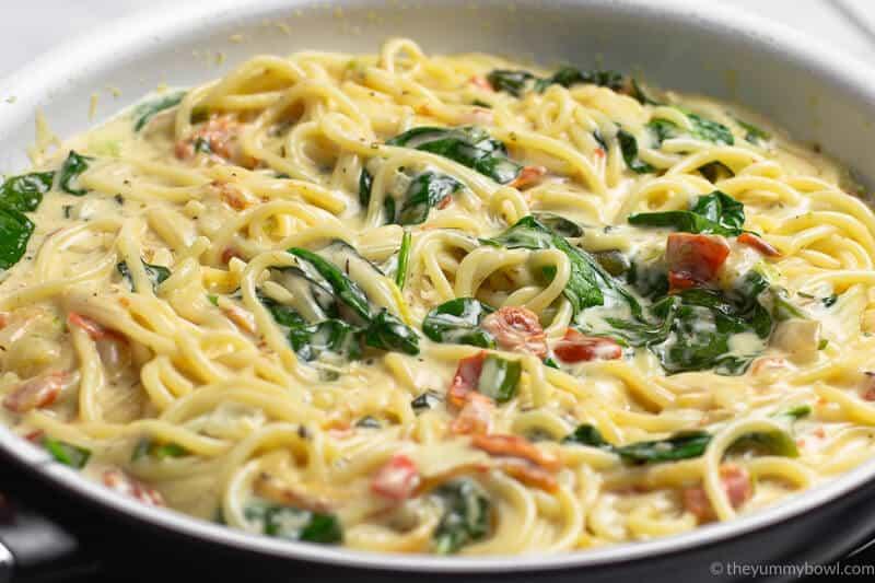 Italian Chicken Pasta in Creamy White Wine Parmesan Sauce