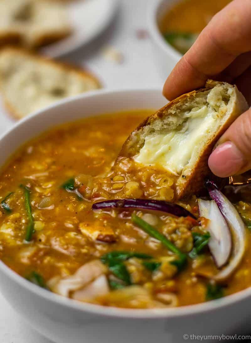 Vegan Red Lentil Soup (Gluten free, Dairy-free)