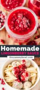 Lingonberry Sauce pinterest cover image