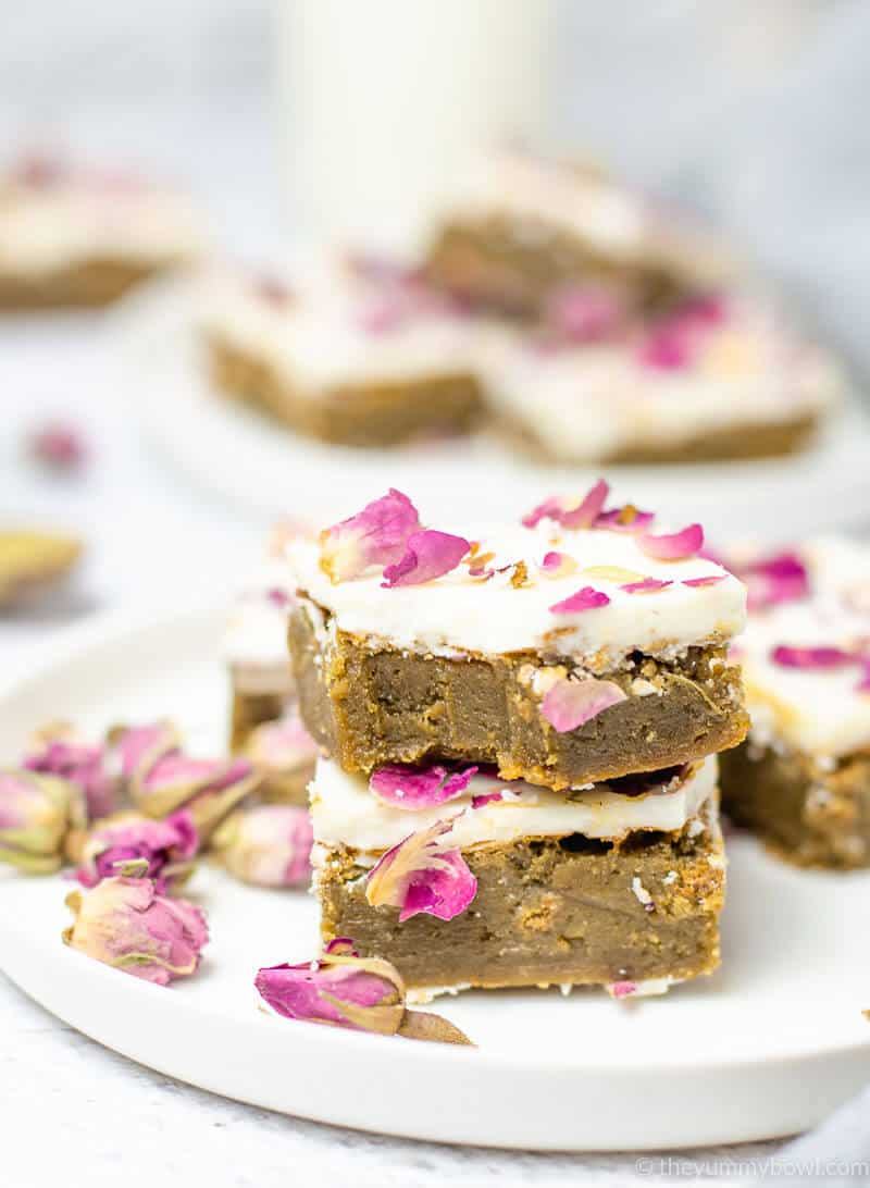 Fudgy Matcha Brownies