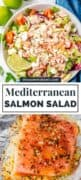 Mediterranean Salmon Salad pinterest image