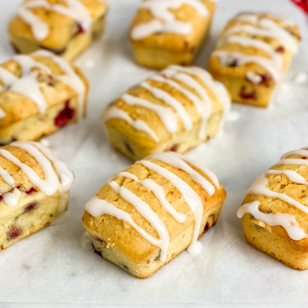Cranberry Orange Mini Loaves Breads (Gluten-Free)