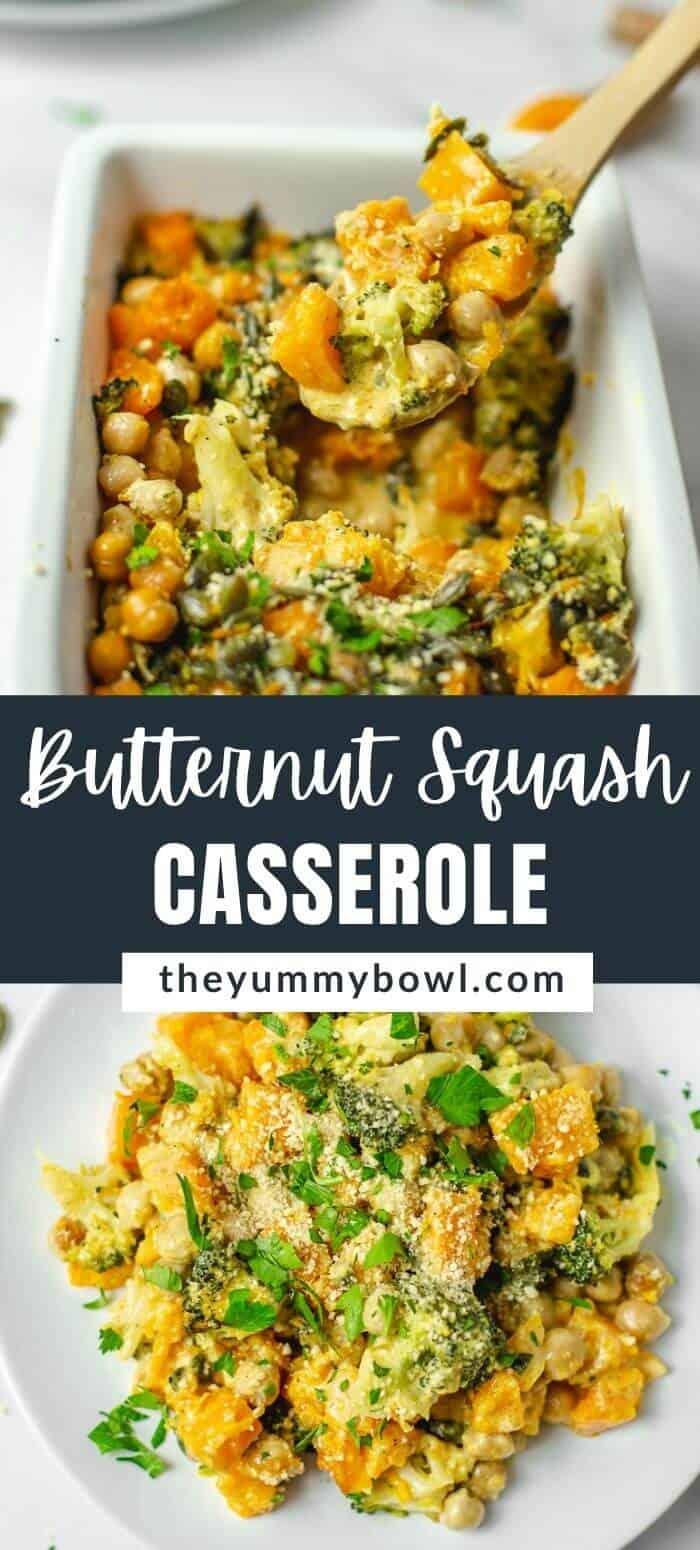 Butternut Squash Broccoli Casserole (Dairy Free, Vegan)