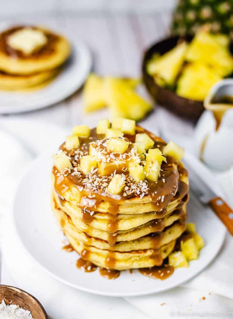 Pineapple Pancakes (Pina Colada Pancakes) | Gluten free