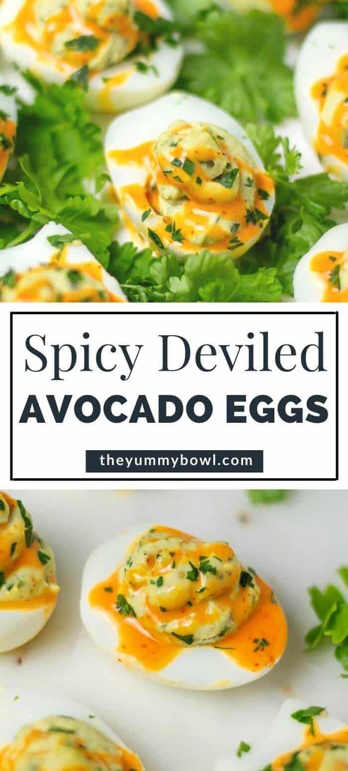 Deviled Avocado Eggs (Spicy)