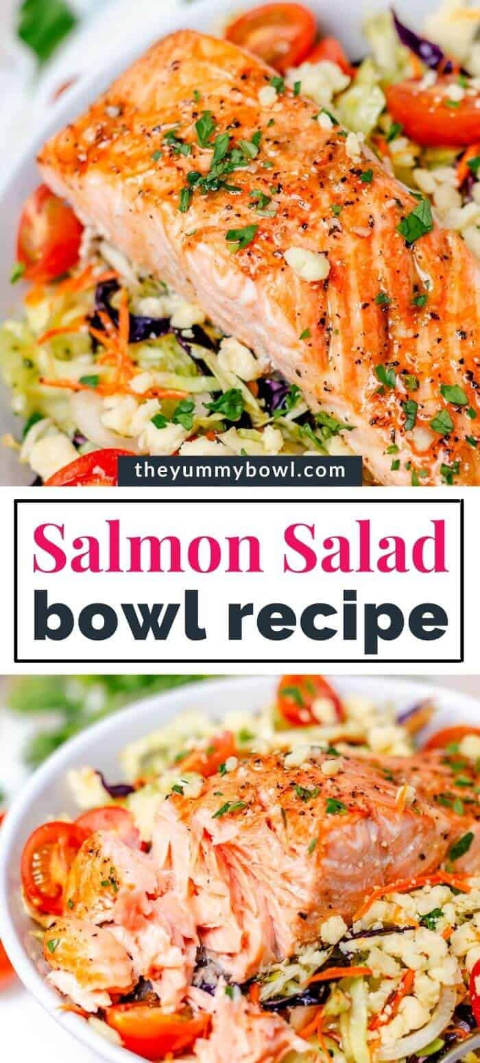 Salmon Salad with Cabbage