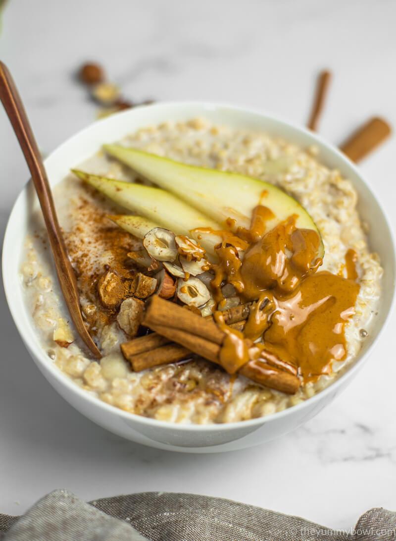 Spiced Pear Porridge Vegan