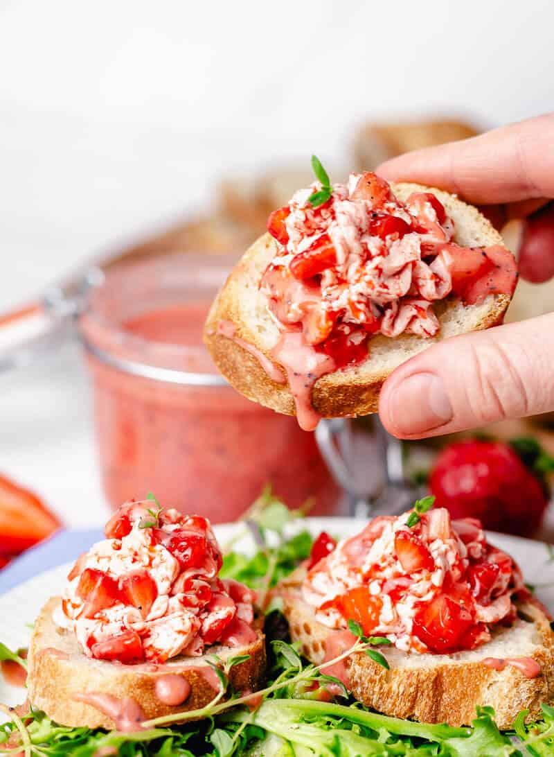 strawberry butter crostini bread