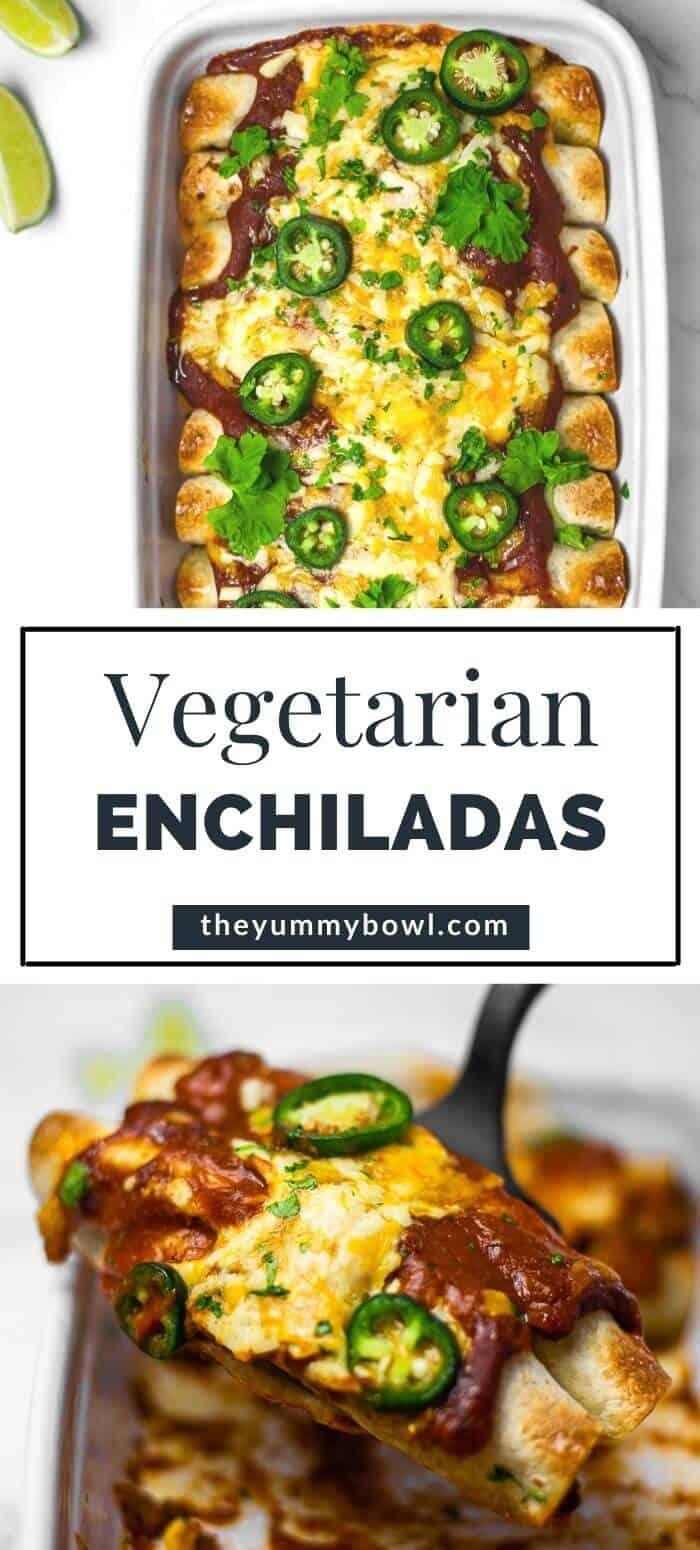 Vegetarian Enchiladas (with Black Bean and Sweet Corn)