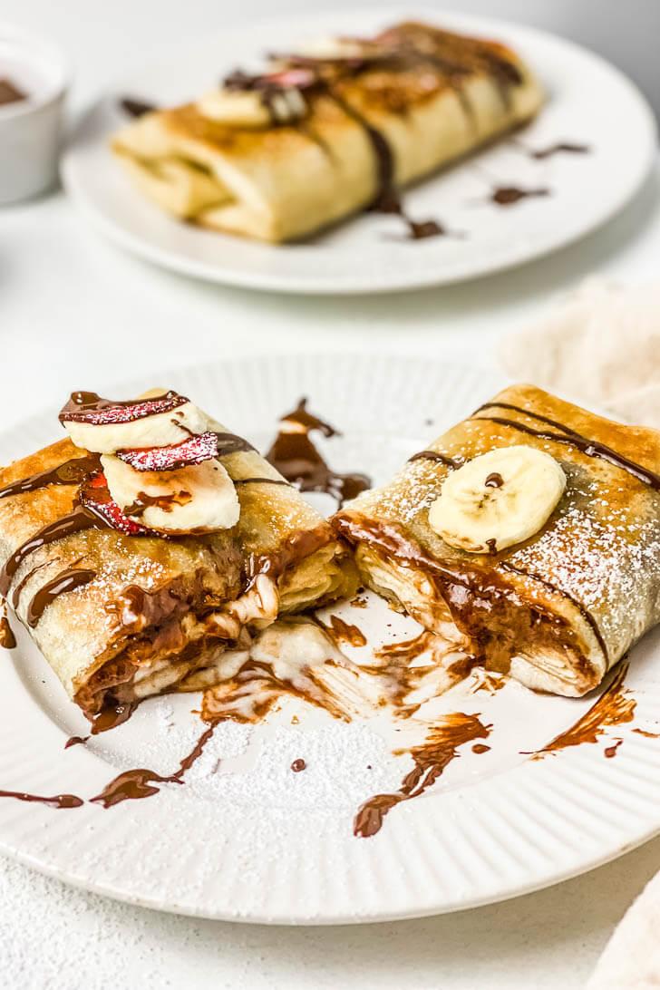 Nutella Banana Cheesecake Chimichangas