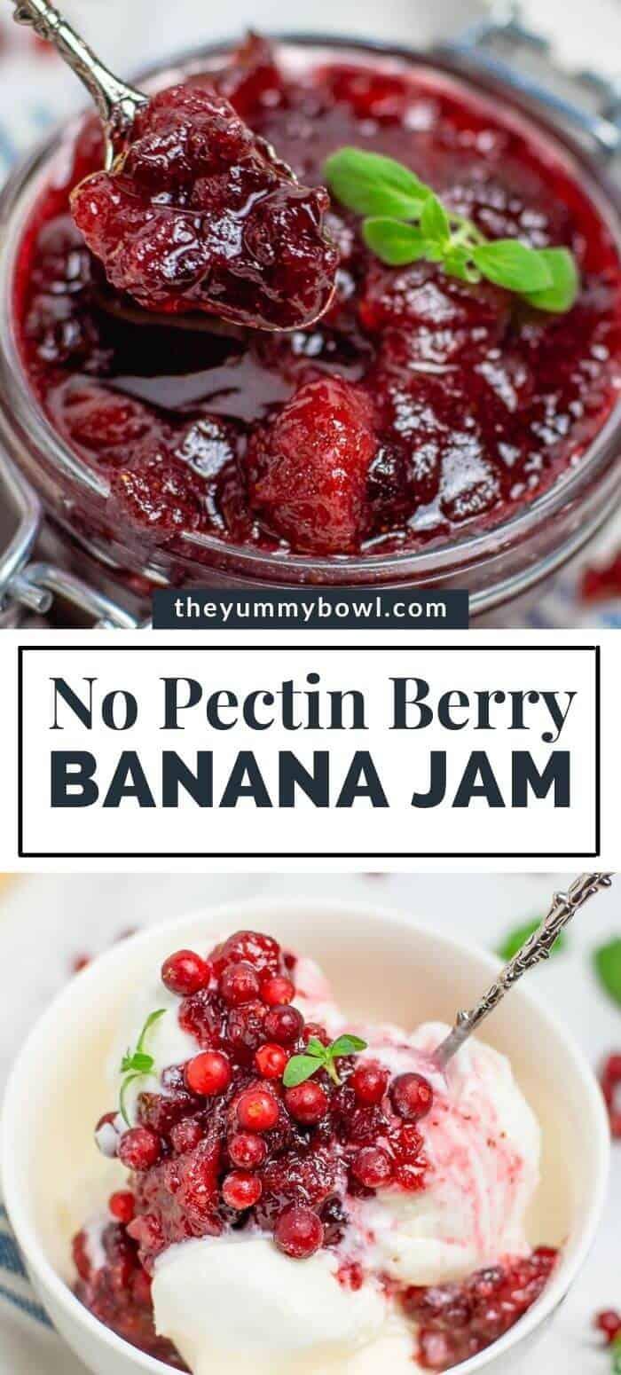 Berry Banana Jam (without pectin)
