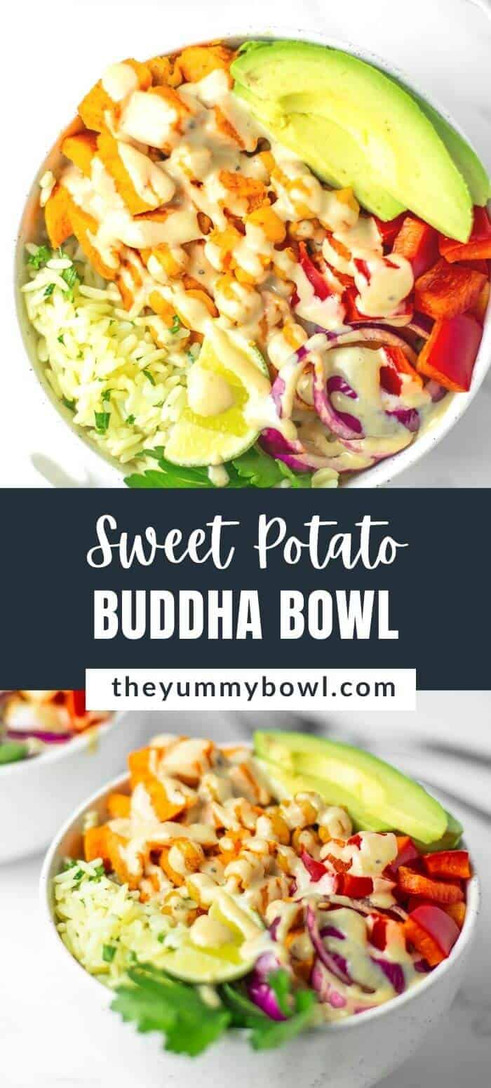 Sweet Potato Buddha Bowl with Tahini Dressing