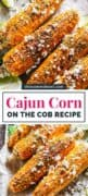 Cajun Corn On The Cob pinterest image