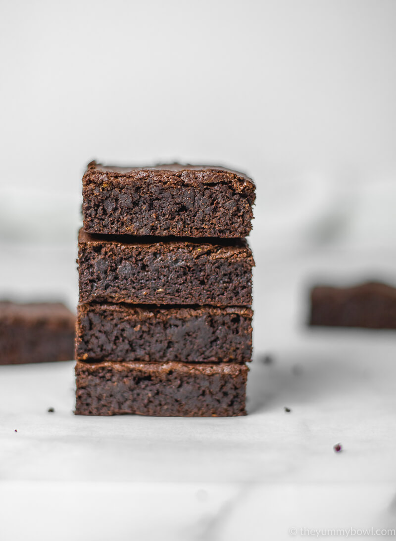 Chocolate Orange Brownies (Vegan, Gluten Free)