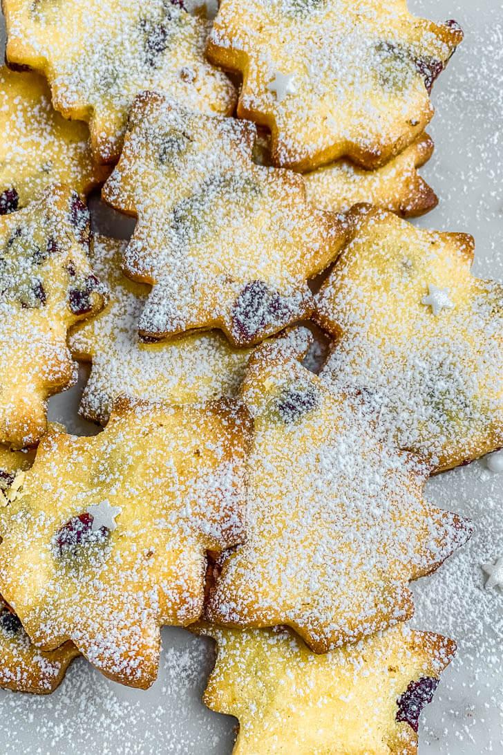 Gluten Free Christmas Tree Shortbread Cookies