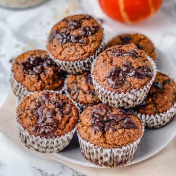 Pumpkin Chocolate Chip Muffins (Gluten Free)