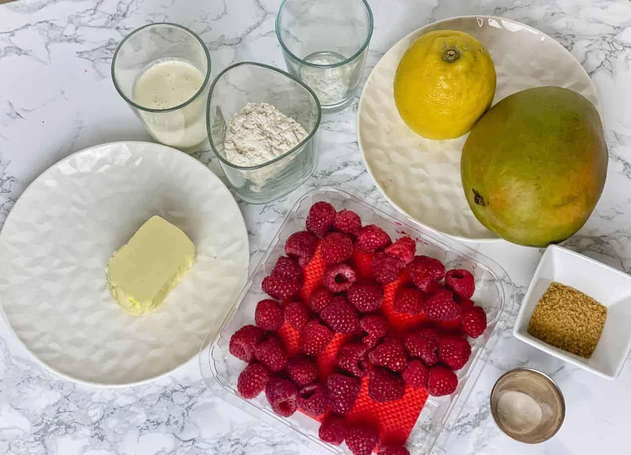 Raspberry Mango Crumble Pie Ceramic Pots