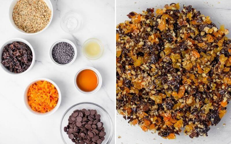 No Bake Chocolate Energy Bites with Dried Fruit