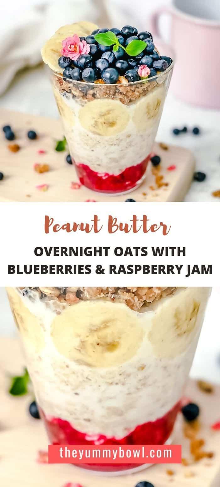 Blueberry Peanut Butter Overnight Oats