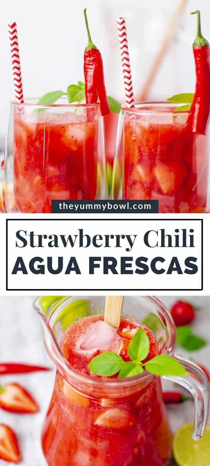 Strawberry Agua Fresca with Chili