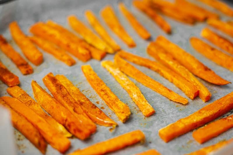 Sweet Potato Fries with Truffle Oil