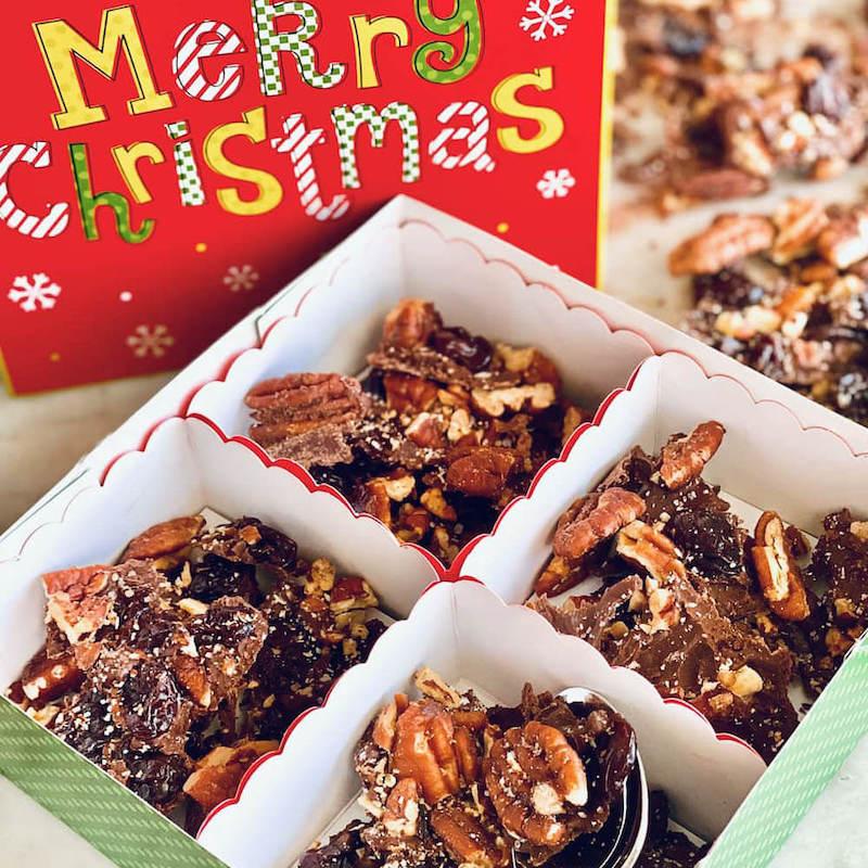 Chocolate Covered Cherry Bark